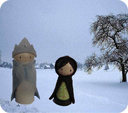Koning winter en vrouwtje dooi