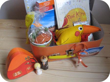 Inhoud oranje koffertje