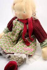 Fröken skicklig rood sjaaltje